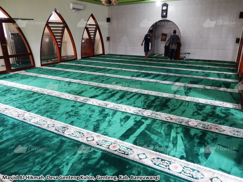 karpet masjid hijau, genteng kulon, banyuwangi