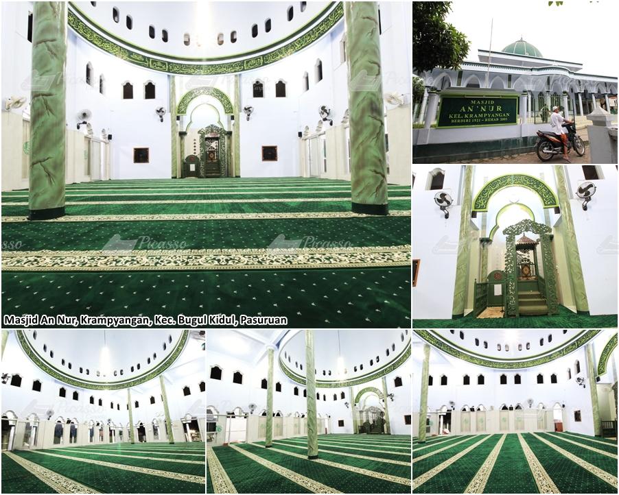 karpet masjid hijau, bugul kidul pasuruan