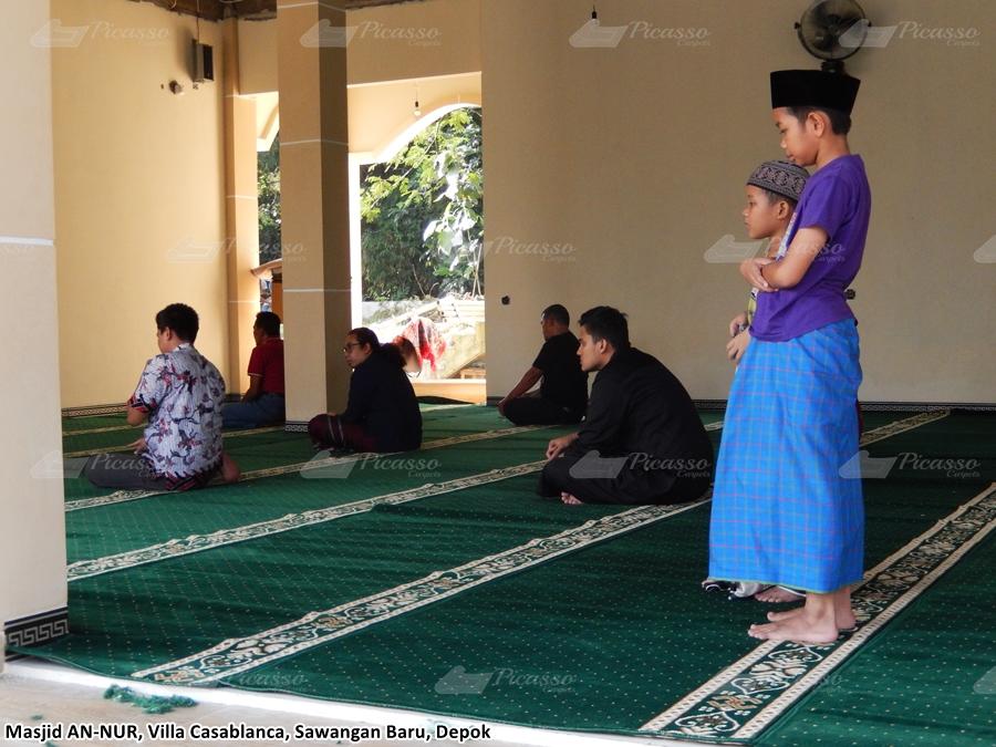 Karpet Masjid An-Nur, Villa Casablanca, Sawangan Baru, Depok