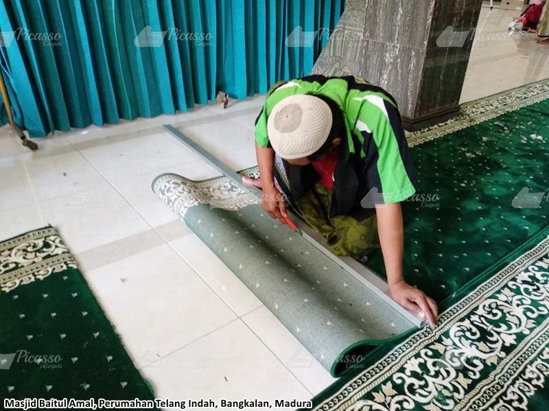 karpet masjid hijau, bangkalan
