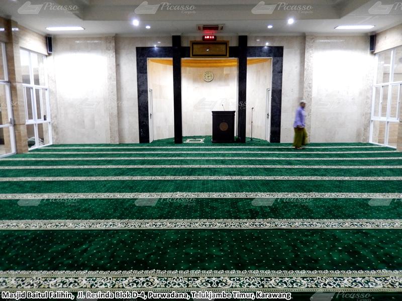Karpet Masjid Baitul Falihin, Telukjambe Timur, Karawang