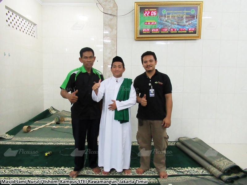 karpet masjid hijau, rawamangun, jakarta timur