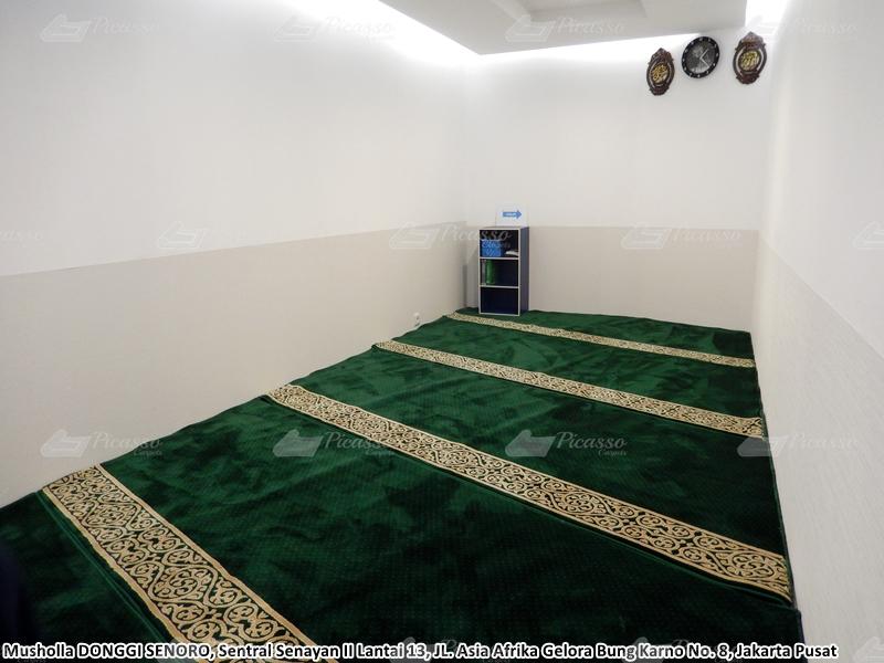 Karpet Masjid di Musholla Donggi Senoro, Jakarta