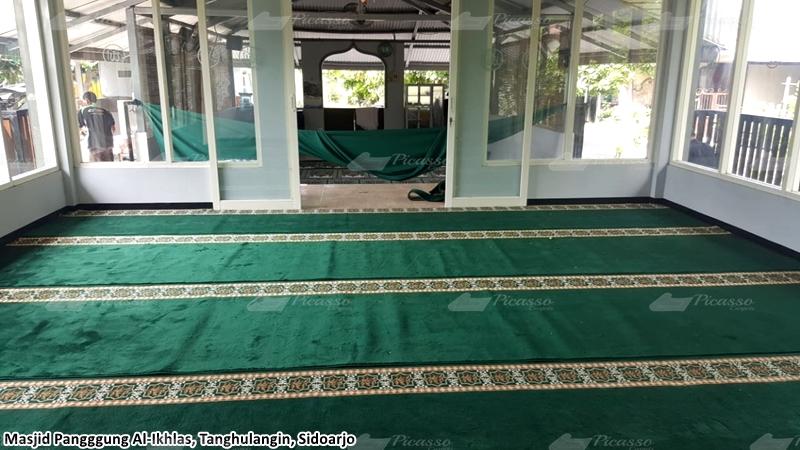 karpet masjid hijau, sidoarjo