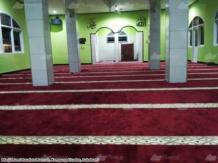 Karpet Masjid Jami Raudatul Jannah, Sukabumi