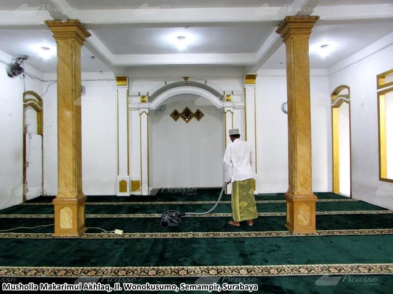 karpet masjid hijau, surabaya