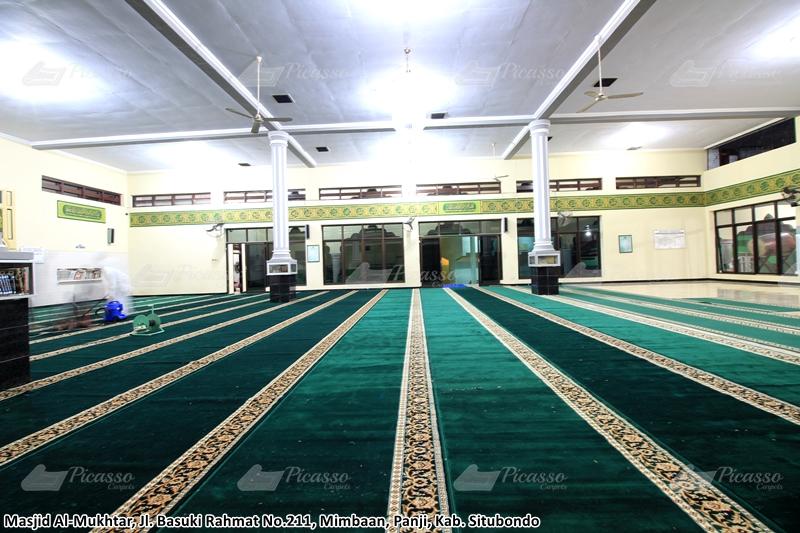 karpet masjid hijau, pasuruan