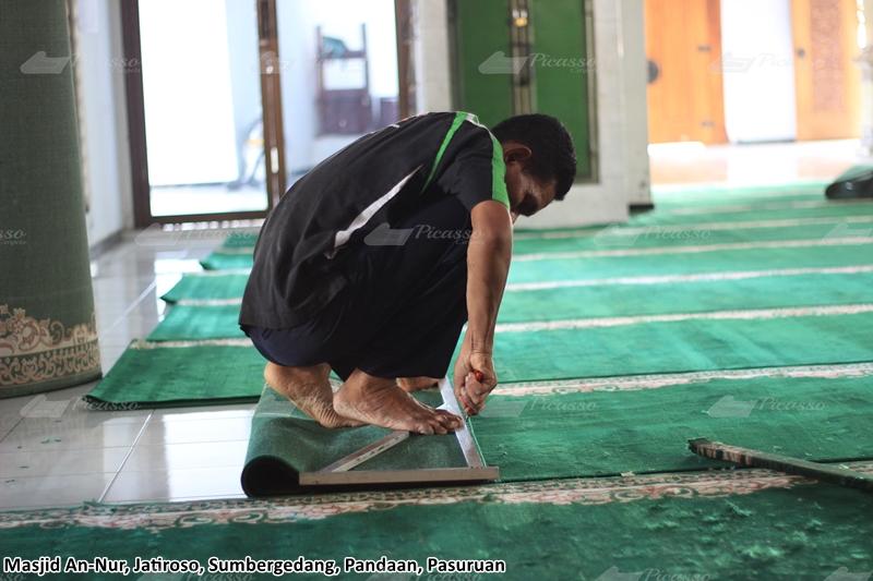 karpet masjid hijau, pandaan, pasuruan