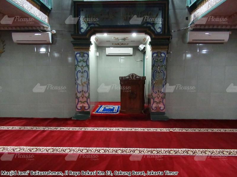 Karpet Masjid Jami' Baiturrahman, Cakung Barat, Jakarta Timur