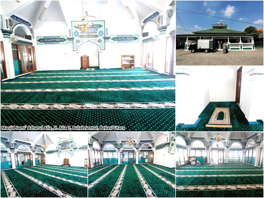 Karpet Masjid Jami Azharul Alia, Bulaksentul, Bekasi Utara