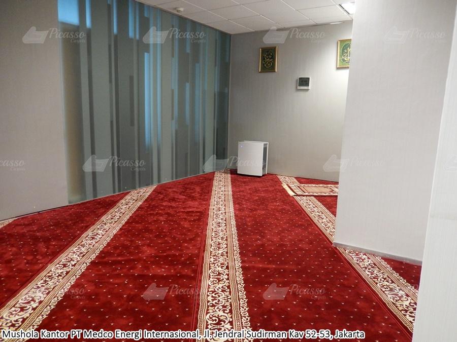 Karpet Masjid di Mushola PT. Medco Energi Internasional, Jaksel