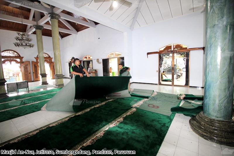 karpet masjid hijau pasuruan