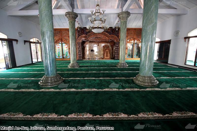 Karpet Masjid An Nur Jatiroso, Sumbergedang, Pandaan Pasuruan