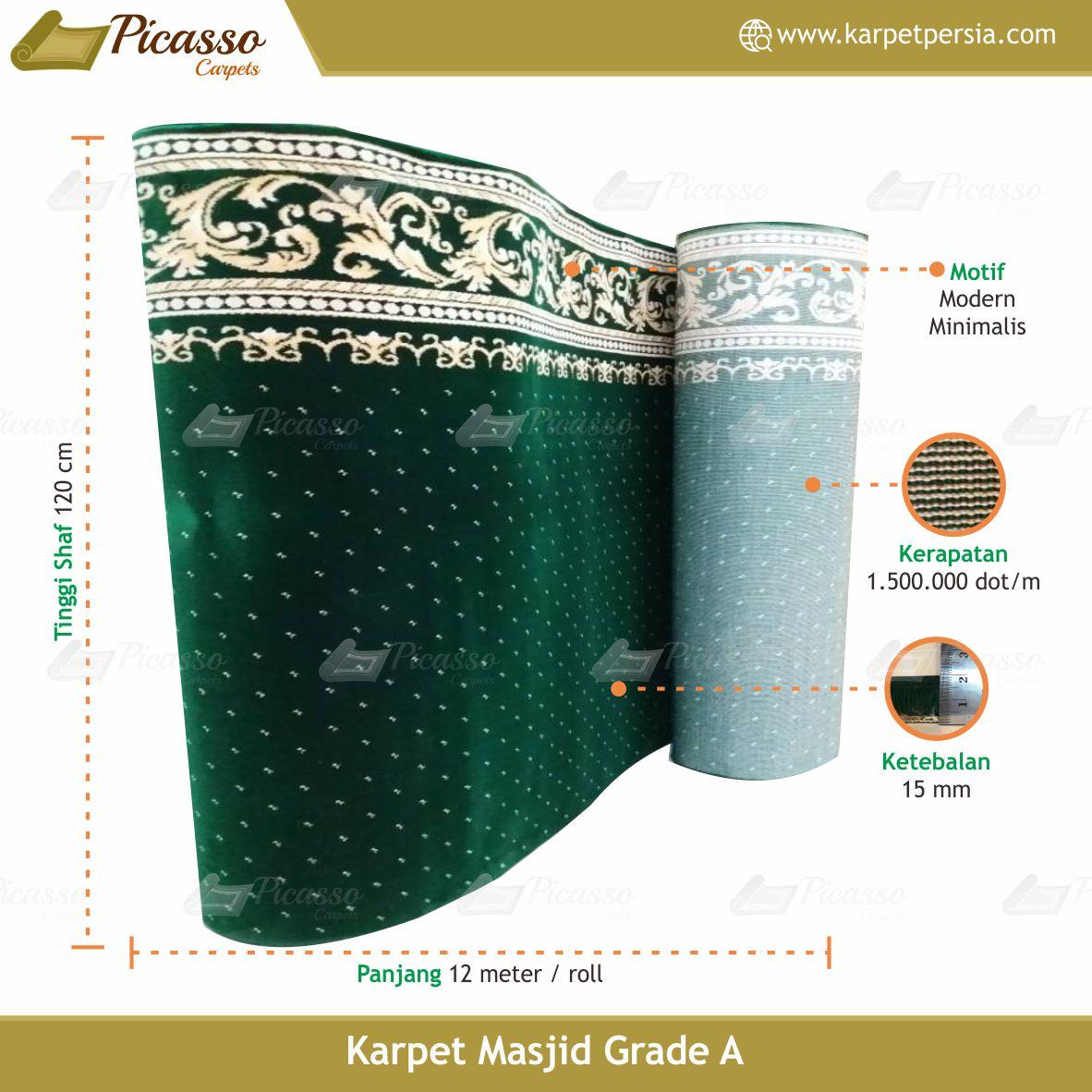 karpet masjid hijau bintik