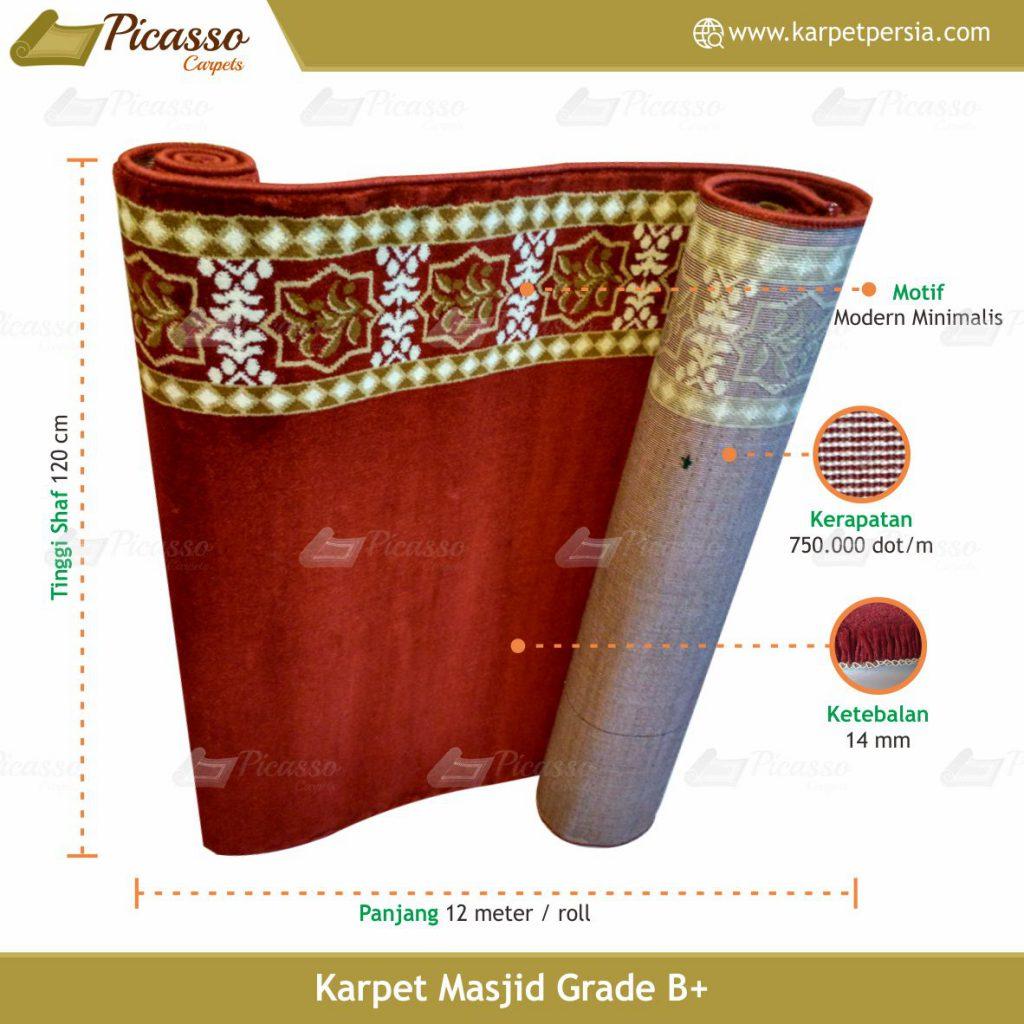 karpet masjid merah polos
