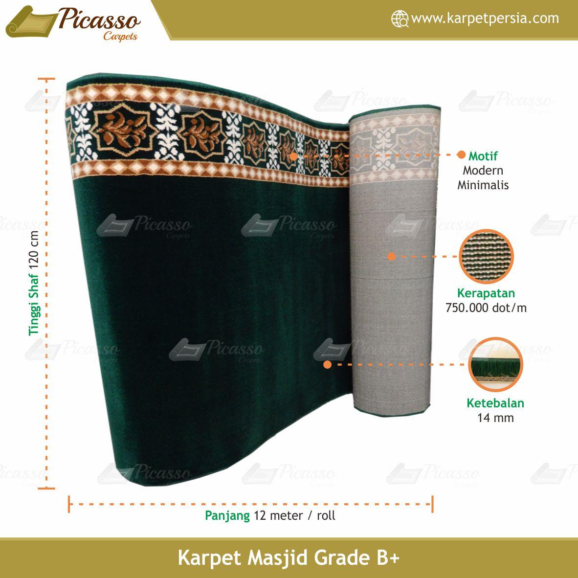 karpet masjid hijau polos