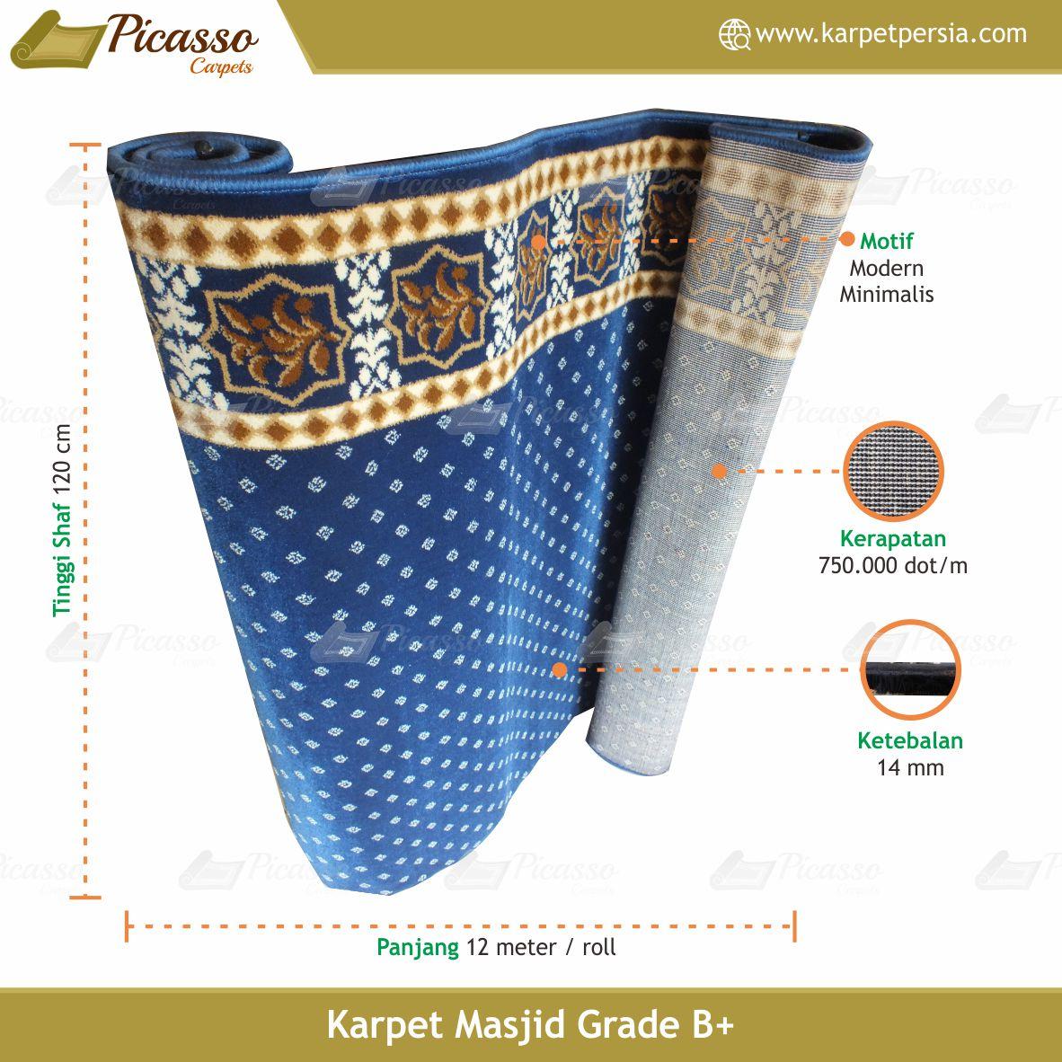 karpet masjid biru bintik