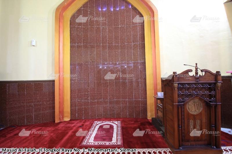 karpet masjid merah, sleman, jogja