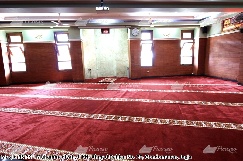karpet masjid merah, rs pku muhammadiyah, jogja