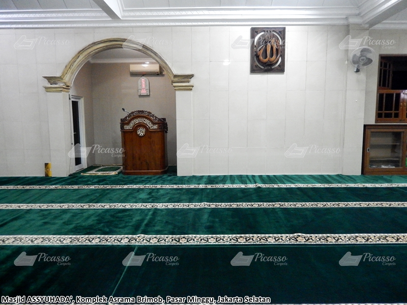 Karpet Masjid Assyuhada, Komplek Asrama Brimob, Pasar Minggu