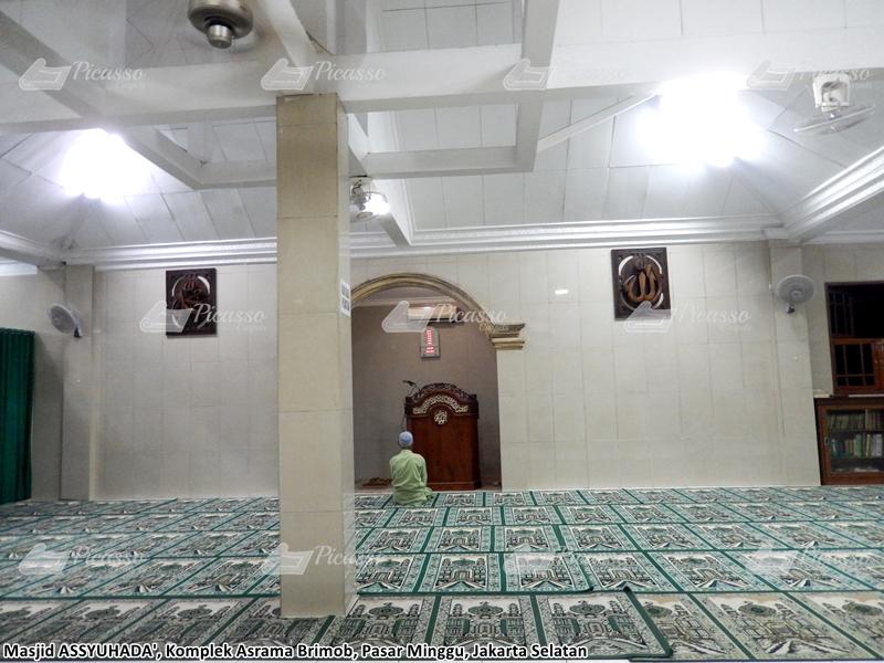 karpet masjid hijau pasar minggu