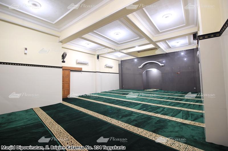 karpet masjid hijau, jogja