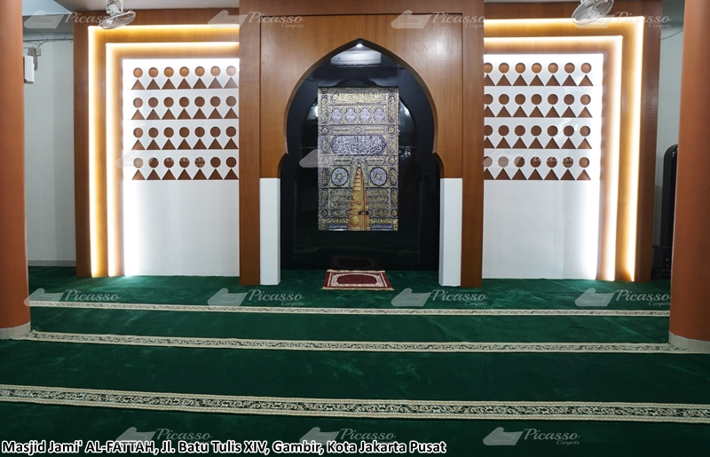 Karpet Masjid Jami Al Fattah Gambir, Jakarta Pusat