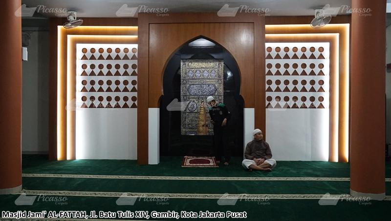 karpet masjid hijau gambir jakarta pusat