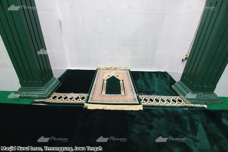 karpet masjid hijau, temanggung