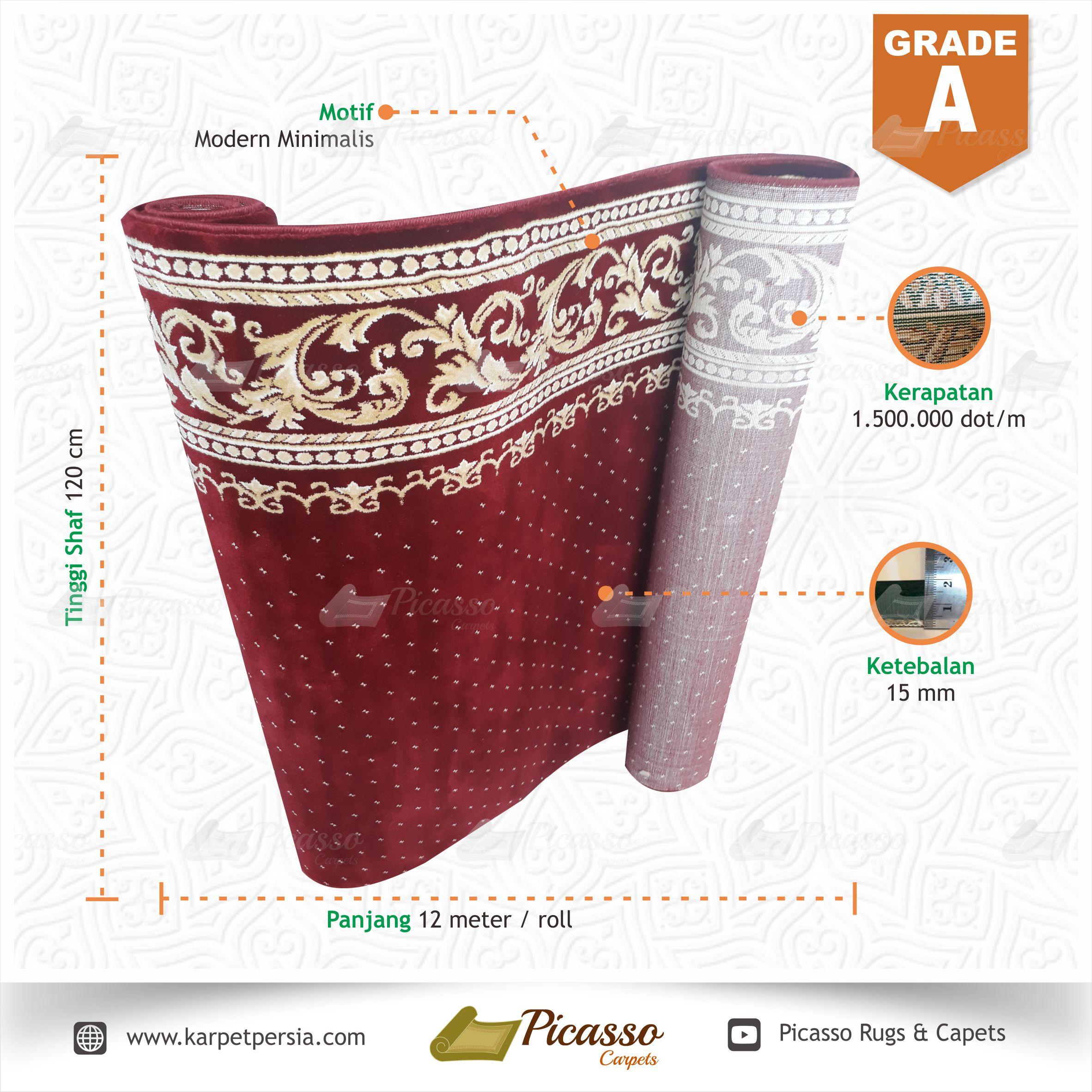 karpet masjid merah grade a8
