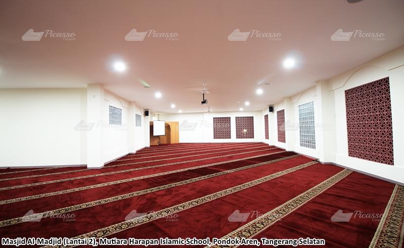 Karpet Masjid Al-Madjid, Mutiara Harapan Islamic School, Tangerang