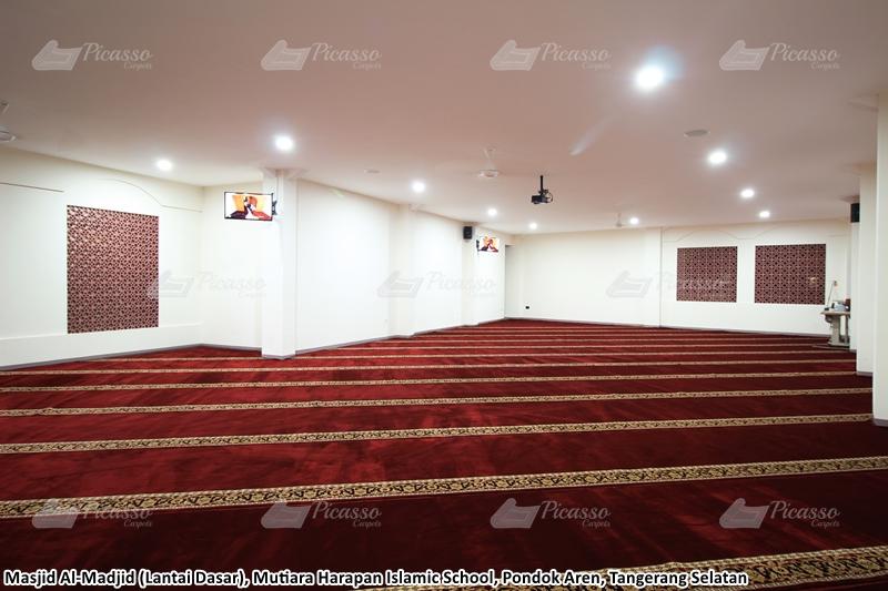 karpet masjid merah, tangerang selatan
