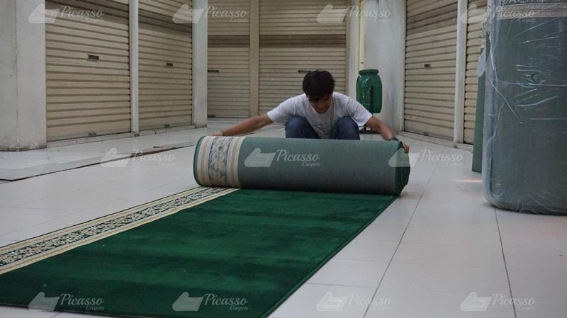 karpet masjid hijau, ketapang kalbar