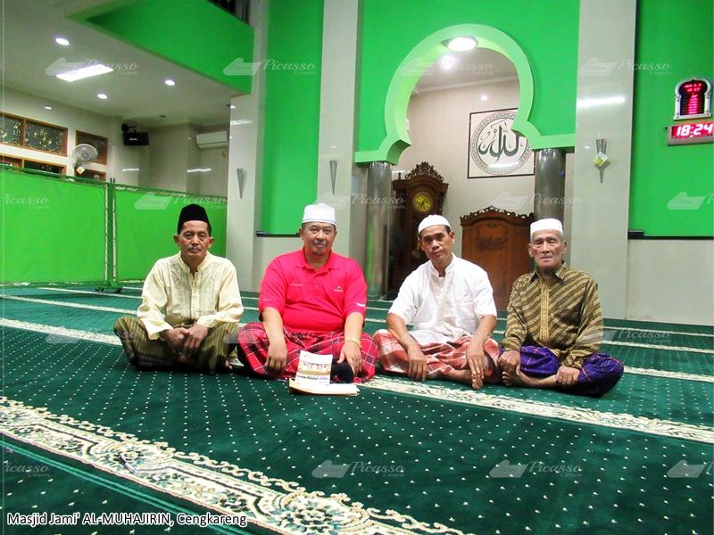 karpet masjid hijau, cengkareng, tangerang