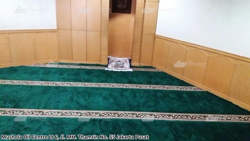 Karpet Masjid di Musholla Gedung Oil Center Lt. Ground, Jakarta Pusat