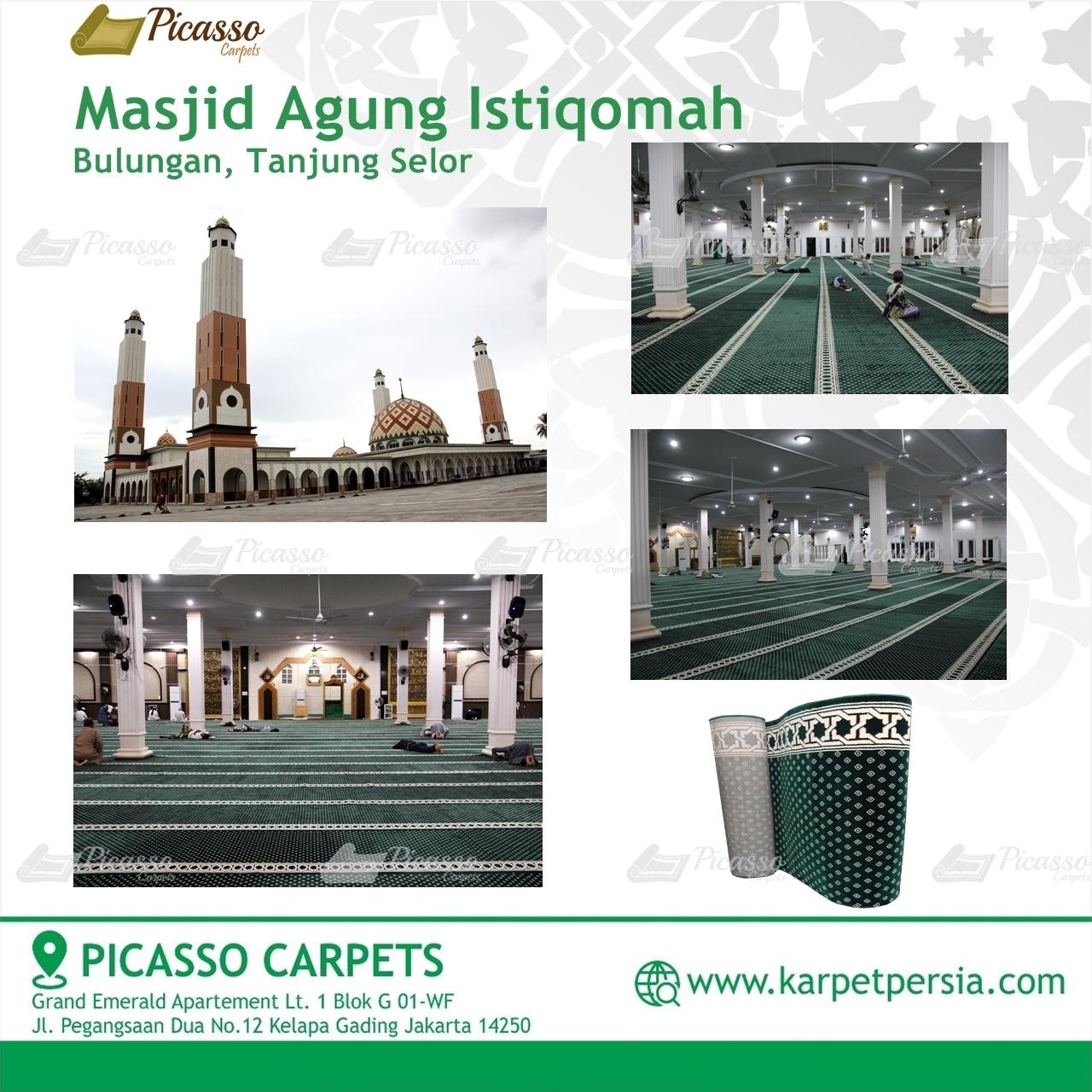 Karpet Sajadah Masjid Agung Istiqomah Tanjung Selor