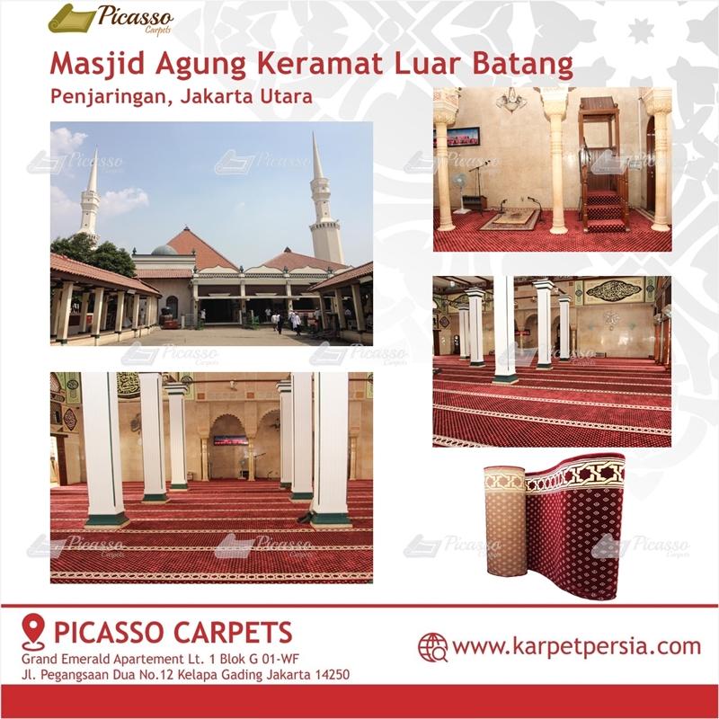 Karpet Sajadah Merah Masjid Agung Keramat Luar Batang Jakarta