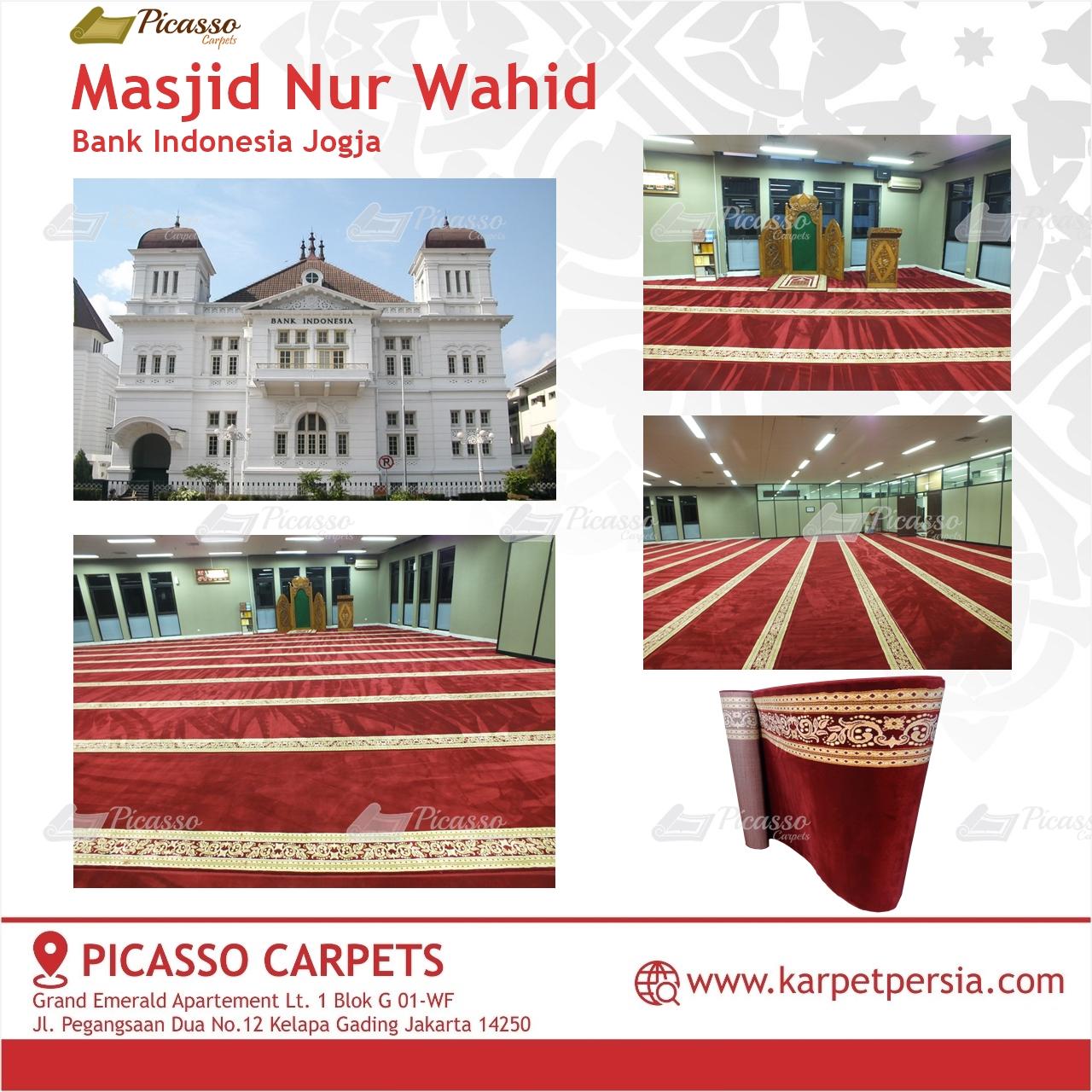 Karpet Sajadah Merah Masjid Nur Wahid Bank Indonesia Jogja
