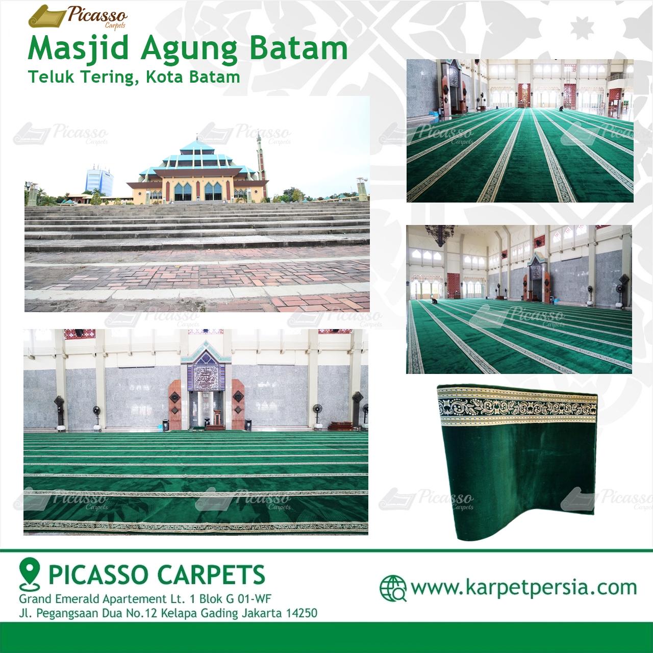 Karpet Sajadah Minimalis Masjid Agung Batam