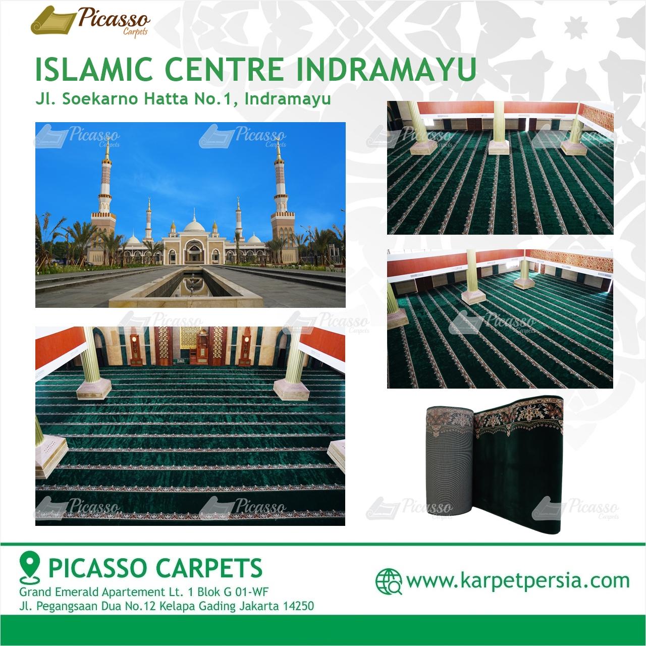 Karpet Sajadah Premium Hijau Islamic Centre Indramayu