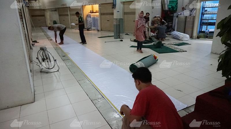 karpet masjid hijau, kutai barat