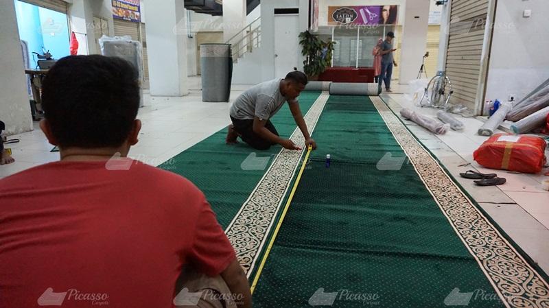 Proyek Setting By Layout Karpet Masjid Agung Baiturrahim Kutai Barat
