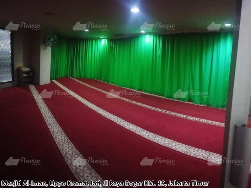 Karpet Masjid Al-Iman, Lippo Kramat Jati, Jakarta Timur