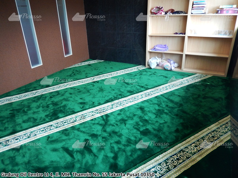 Karpet Masjid di Musholla Gedung Oil Centre Lt 1, 2, 4 Jakarta Pusat