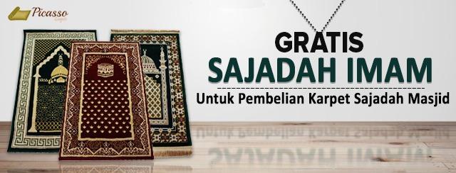 Gratis Sajadah Imam Untuk Pembelian Karpet Sajadah Masjid*