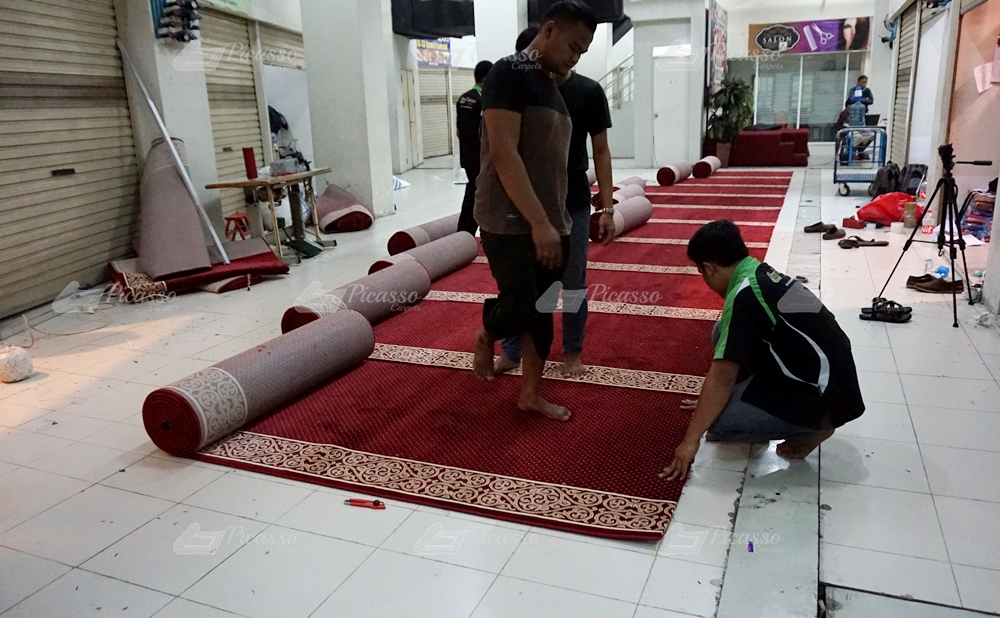 karpet masjid merah, klaten, jogja