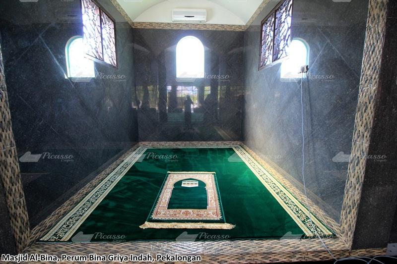 karpet masjid hijau, pekalongan