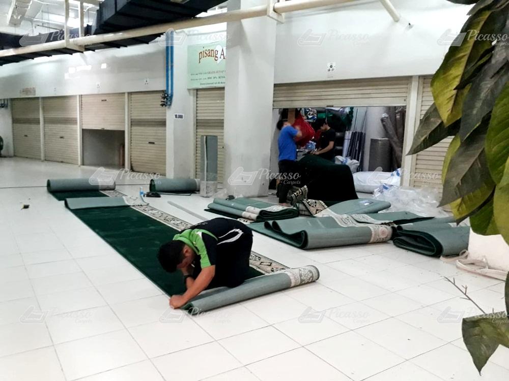 karpet masjid hijau cirebon