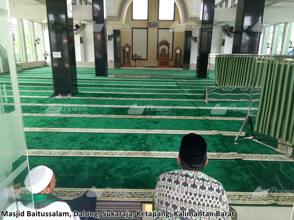 karpet masjid hijau, ketapang, kalbar