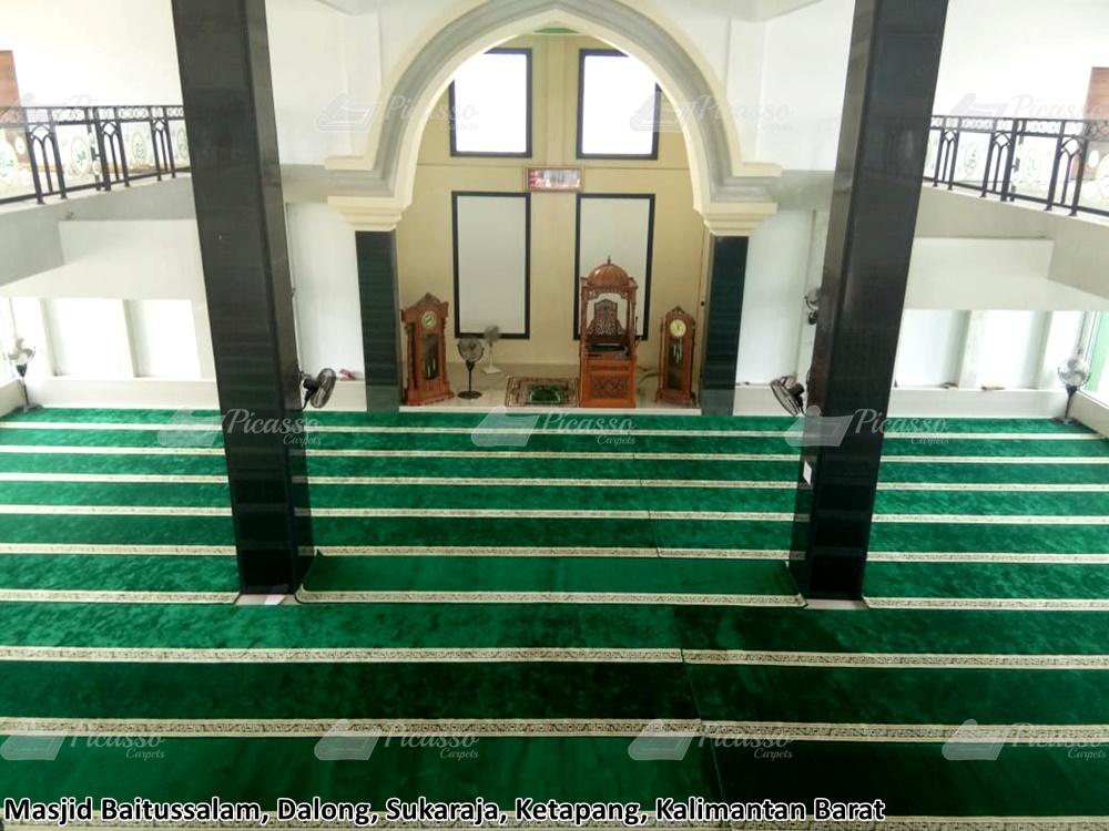 karpet masjid hijau ketapang